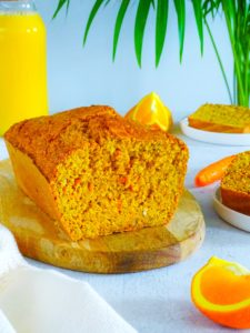 Cake aux carottes orange et noisettes